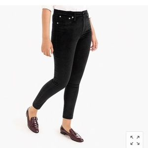 J. Crew Black Velvet stretch Jeans